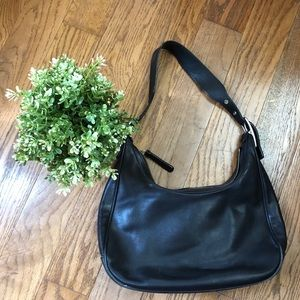 Coach Leather Hobo Purse in Black